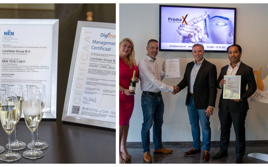 Promax IT ontvangt het ISO27001 en NEN7510 certificaat!