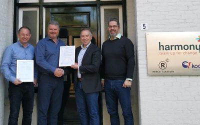 Harmony Groep ISO27001 gecertificeerd