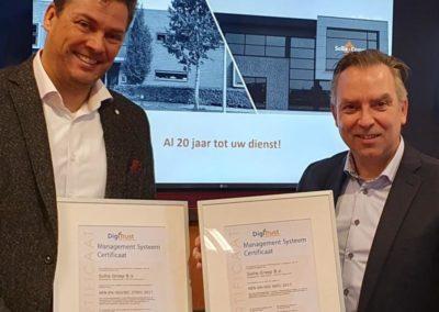 Sollie Groep ISO27001 en ISO9001 gecertificeerd
