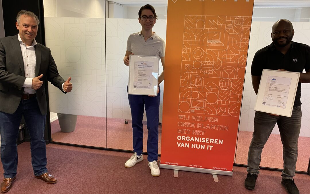 Suit IT ISO27001 en NEN7510 gecertificeerd